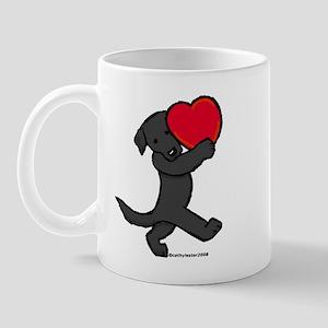 Black Lab Valentine Mug