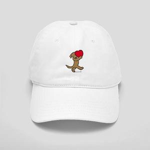 Chocolate Labrador Valentine Cap