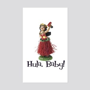 Hula, Baby Rectangle Sticker