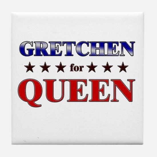 GRETCHEN for queen Tile Coaster