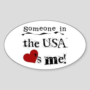 USA Loves Me Oval Sticker