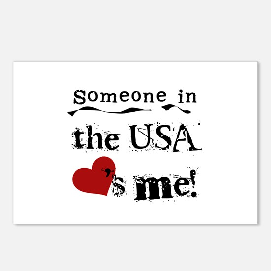 USA Loves Me Postcards (Package of 8)