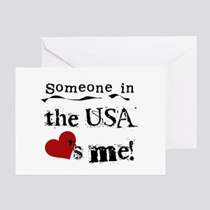 USA Loves Me Greeting Card