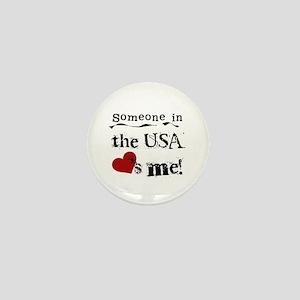 USA Loves Me Mini Button