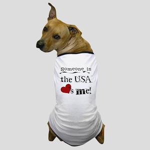 USA Loves Me Dog T-Shirt