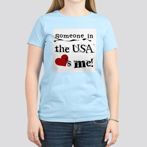 USA Loves Me Women's Light T-Shirt