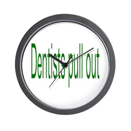 Dentists Pull Out Wall Clock