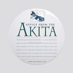 Advice from the Akita: Doody Ornament (Round)