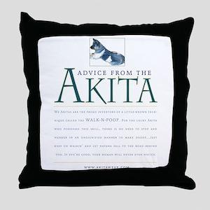 Advice from the Akita: Doody Throw Pillow