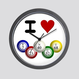 I LUV BINGO Wall Clock