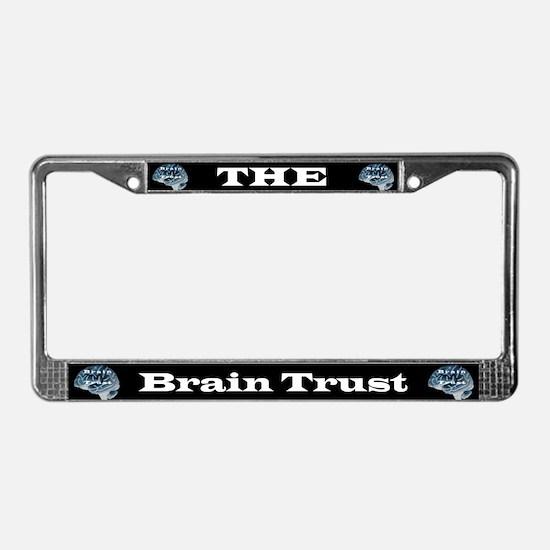 Brain Trust License Plate Frame