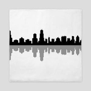 chicago skyline Queen Duvet