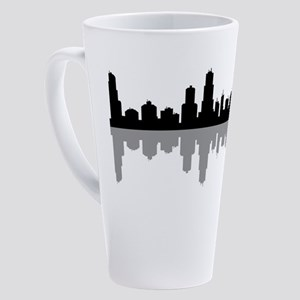 chicago skyline 17 oz Latte Mug