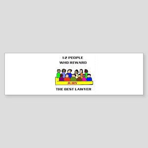 JURY Bumper Sticker