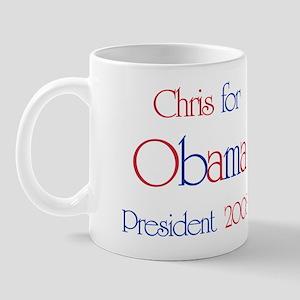 Chris for Obama 2008  Mug