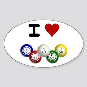 I LUV BINGO Sticker (Oval)