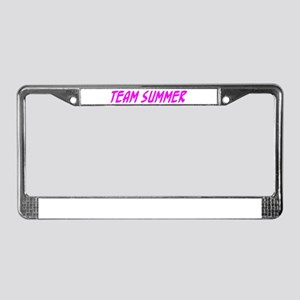 """Team Summer"" License Plate Frame"