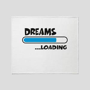 Dreams loading Throw Blanket