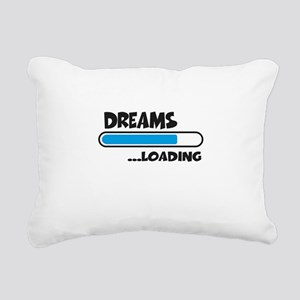 Dreams loading Rectangular Canvas Pillow