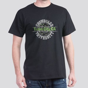Snowboard Tahoe City CA Dark T-Shirt