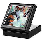 Calico Cat by Riccoboni Inlaid Tile Box