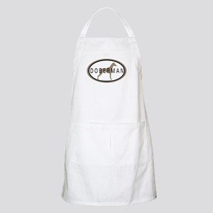 Doberman Dog Oval BBQ Apron