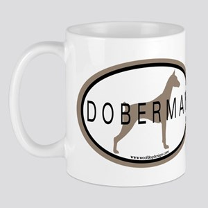 Doberman Dog Oval Mug