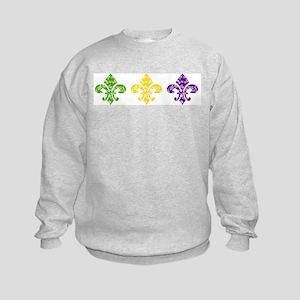 Fleur Mardi Swirl Kids Sweatshirt