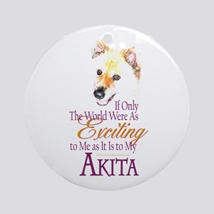 Akita: If Only Ornament (Round)