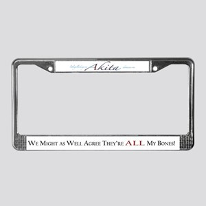 Akita: If Only License Plate Frame