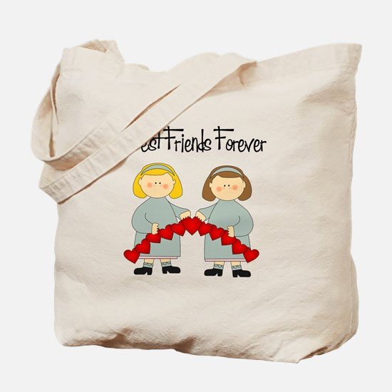 BFF Hearts-Best Friends Tote Bag