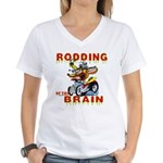 Rodding of the Brain II Women's V-Neck T-Shirt