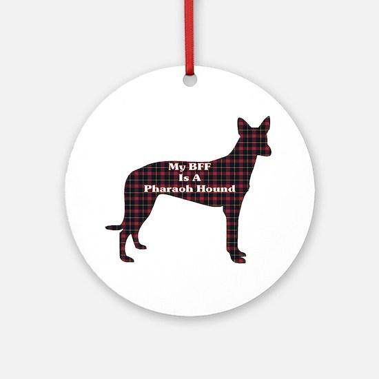 BFF Pharaoh Hound Ornament (Round)