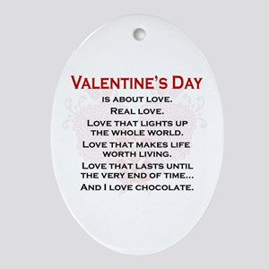 Real Love Oval Ornament