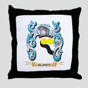 Klimpt Coat of Arms - Family Crest Throw Pillow