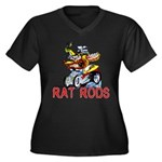 Pablos Rat Women's Plus Size V-Neck Dark T-Shirt