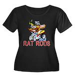 Pablos Rat Women's Plus Size Scoop Neck Dark T-Shi