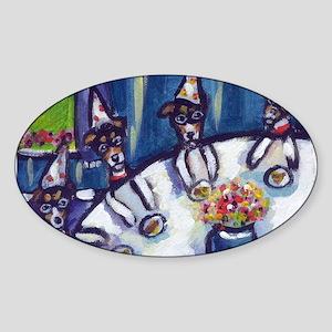Rat Terrier B-day Oval Sticker