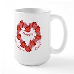 Rose Wreath, Valentine Large Mug