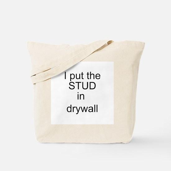 Stud in drywall Tote Bag