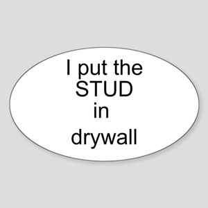 Stud in drywall Oval Sticker