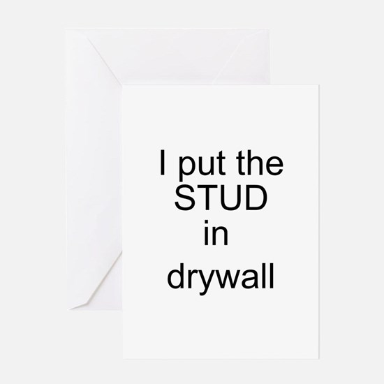 Stud in drywall Greeting Card