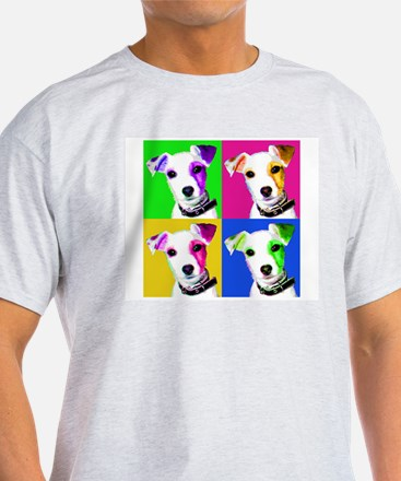 Jack Russell Pup White T-Shirt