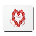 Rose Wreath, Valentine Mousepad