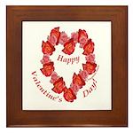 Rose Wreath, Valentine Framed Tile