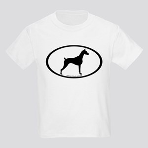 Doberman Pinscher Oval Kids Light T-Shirt