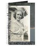 Journal Vintage Photo Woman Outside
