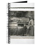 Journal Vintage Photo Woman At Zoo