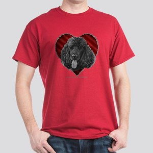 Black Poodle Valentine Dark T-Shirt