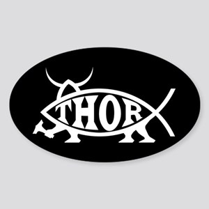 Thor Fish Oval Sticker